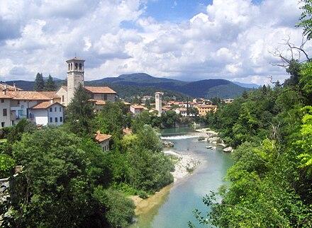 Il monte Matajur visto da Cividale del Friuli