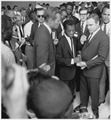 Civil Rights March on Washington, D.C. (Author James Baldwin with actors Marlon Brando and Charlton Heston.) - NARA - 542051.tif
