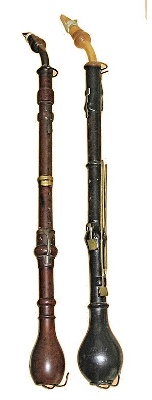 Bate Collection of Musical Instruments - Two clarinettes d'amour in the Bate Collection.