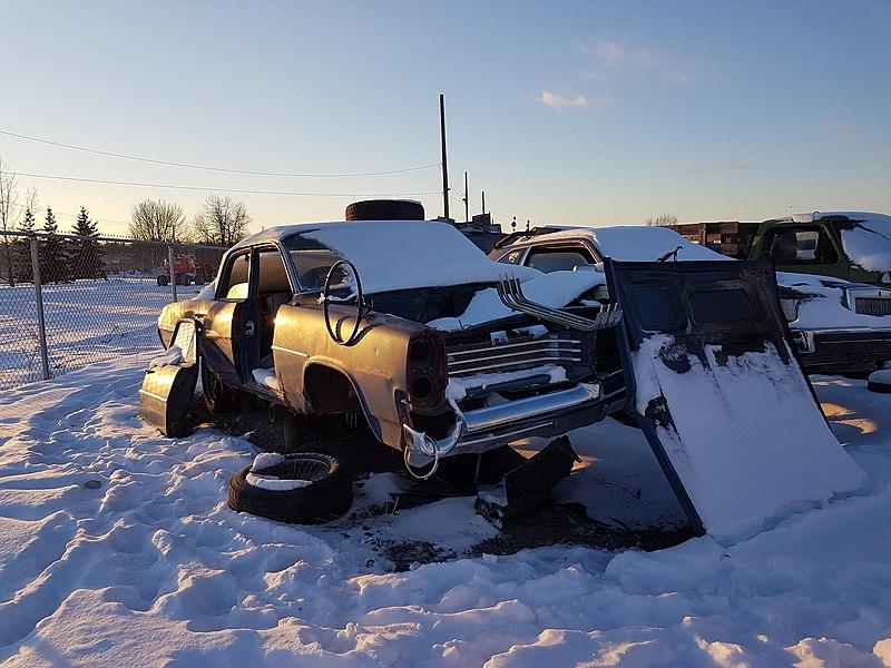 File:Classic Pontiac in the junkyard - Flickr - dave 7 jpg