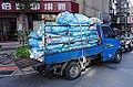 Cleaning Company Veryca Truck Full Loaded Trash Bags 20141206.jpg