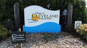 Cleveland, Manitowoc County, Wisconsin - Image: Cleveland WI Sign