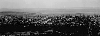 Cleveland, Oklahoma - Panoramic view of Cleveland in 1905, a year after the discovery of oil