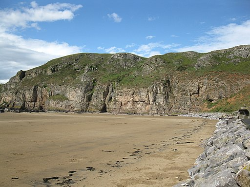 Cliffs on the south side of Brean Down (geograph 2570989)