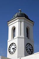 Clock tower of Droit House Margate Kent England.jpg
