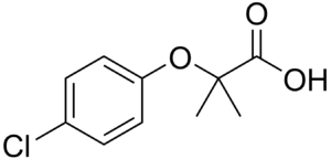 Clofibric acid - Image: Clofibric acid