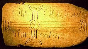 Ódhrán Ua hEolais - The cross-stone of Odhran Ua Eolais