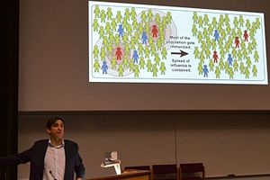 Stephen McGann - Stephen McGann explaining herd immunity at the 2015 Cambridge Science Festival
