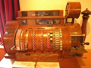 Cash register - Antique crank-operated cash register