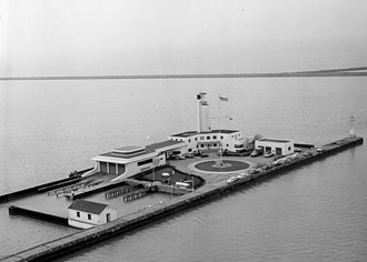 Whiskey Island (Cleveland) - Coast Guard station at Whiskey Island in 1951