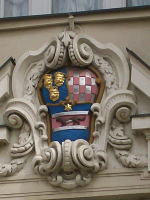 Kingdom of Croatia-Slavonia - The Coat of Arms of Croatia-Slavonia on the building of the Croatian Parliament