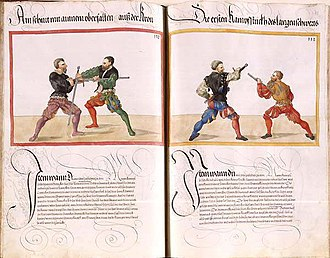 Paulus Hector Mair - Two techniques from the longsword section in the Dresden codex