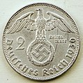 Coin photography - 1936 Nazi Germany - 2 Reichsmark - Deutsches Reich 1936 - Photo by Kevin Dooley - 28245336391.jpg