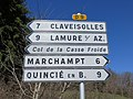 Col de la Croix de Marchampt - Panneaux directionnels 2 (mars 2019).jpg