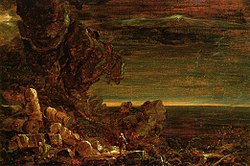 Cole Thomas The Cross and the World Study for -The Pilgrim of the World at the End of His Journey 1846-48.jpg
