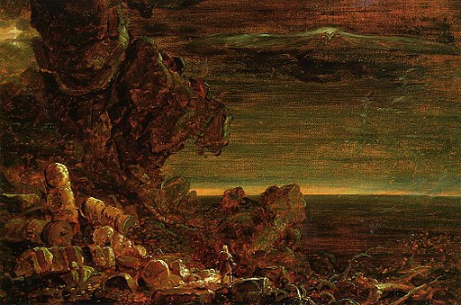 Cole Thomas The Cross and the World Study for -The Pilgrim of the World at the End of His Journey 1846-48
