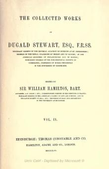 Collected Works of Dugald Stewart Volume 9.djvu