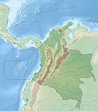 Location map Colombia is located in Colombia