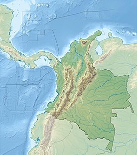 Location of major volcanoes in Columbia