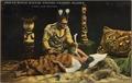 Color post card. Indian witch doctor visiting patient, Alaska. - NARA - 297727.tif