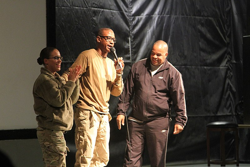 File:Comedian Tommy Davidson, center, recognizes U.S. Army Sgt ...