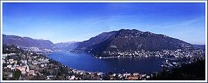 Der Comer See von Menaggio aus gesehen