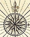 Compass rose in 1753, from Ari Atoll 1753 (cropped).jpg