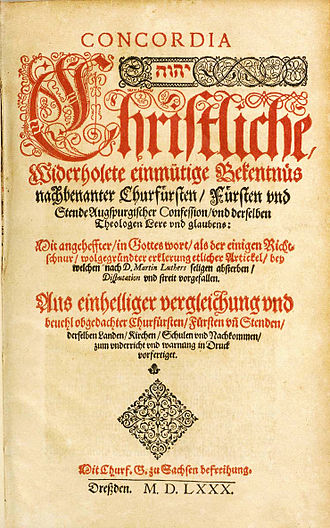 Book of Concord - Title page from the 1580 German edition