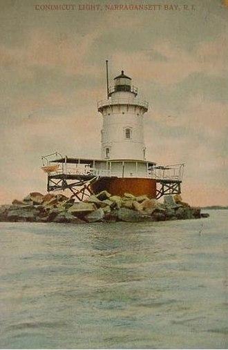 Conimicut Light - Conimicut Light in ca. 1905