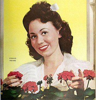Connie Haines American singer