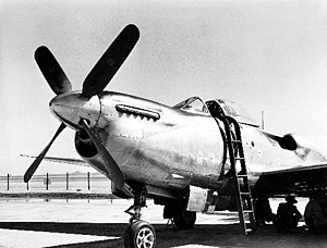 Consolidated Vultee XP-81 - The original Merlin engine installation in the XP-81