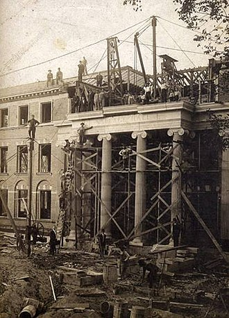 Monmouth College - Construction of Wallace Hall, Monmouth College, 1908