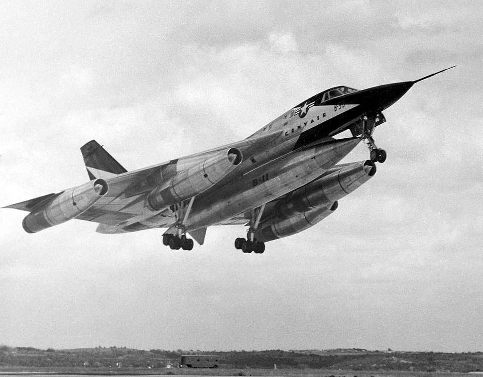Convair XB-58 Hustler during takeoff 061101-F-1234P-008
