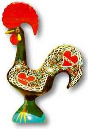 Barcelos, Portugal - Galo de Barcelos, often used as a symbol of Portugal