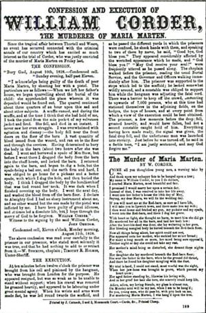 Street literature - An 1828 broadside