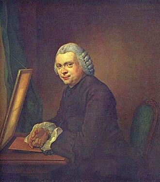 Jacobus Buys - Portrait of Cornelis Ploos van Amstel, Dutch art collector, 1766. Now at the Rijksmuseum Amsterdam.