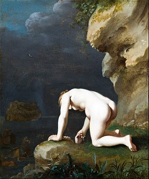 Calypso (mythology) - Image: Cornelis van Poelenburgh The Goddess Calypso rescues Ulysses Google Art Project