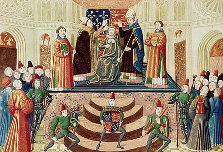 Coronation of Henry IV of England at Westminster in 1399 Coronation Henry4 England 01.jpg