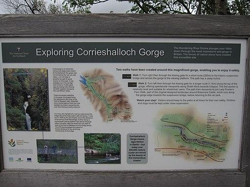 Corrieshalloch Gorge information board - geograph.org.uk - 2144948