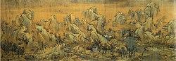 Couleurs d'automne sur les rivières et montagnes (détail 1) par Zhao Boju.jpg