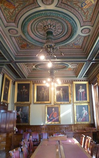Burgh - The Council Chamber in Leith which ceased to be an autonomous burgh in 1920