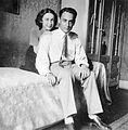 Couple, interior, double portrait, woman, man, furniture Fortepan 3744.jpg