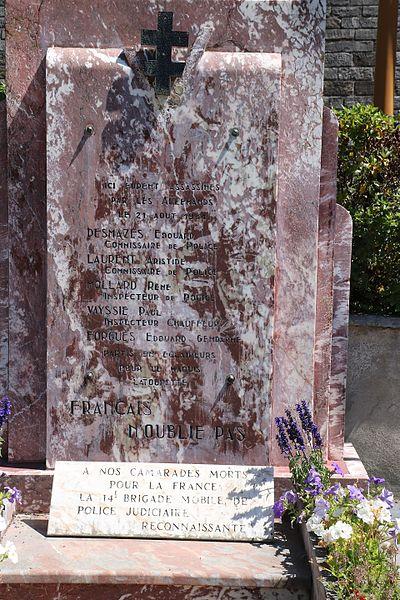 Courniou (Hérault) - monument aux morts - détail: plaque