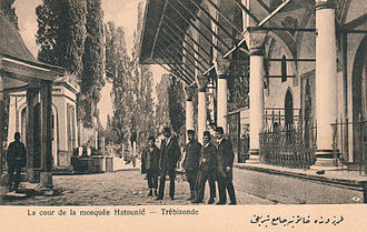 Gülbahar Hatun (wife of Bayezid II) - The court of the historical Gül-Bahar Khâtûn Mosque in Trabzon-Turkey, where the grave of the daughter of Alaüddevle Bozkurt Bey of Dulkadirids Ayşe Khâtûn is located at.