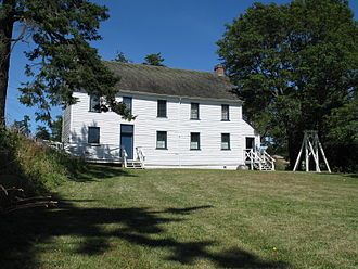 Craigflower Manor and Schoolhouse - Craigflower Schoolhouse, viewed from the front.  The original school bell is visible on the right.