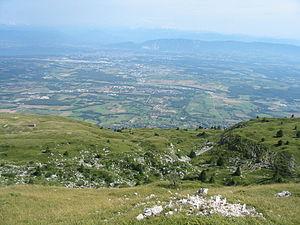 Crêt de la Neige - Looking towards Geneva from the summit