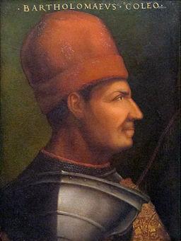 Cristofano dell'altissimo, bartolomeo colleoni, ante 1568 (cropped)