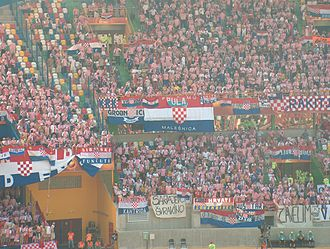 Croatia national football team - Croatian football fans during the 2001 international season.
