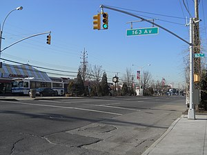 Woodhaven and Cross Bay Boulevards - Cross Bay Boulevard in Howard Beach, Queens.