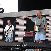 Eric Clapton e Bill Murray (a destra) al Crossroads Guitar Festival 2007